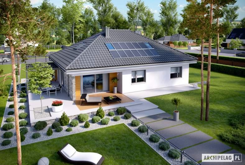 Projekt domu Astrid (mała) G2 - widok z góry