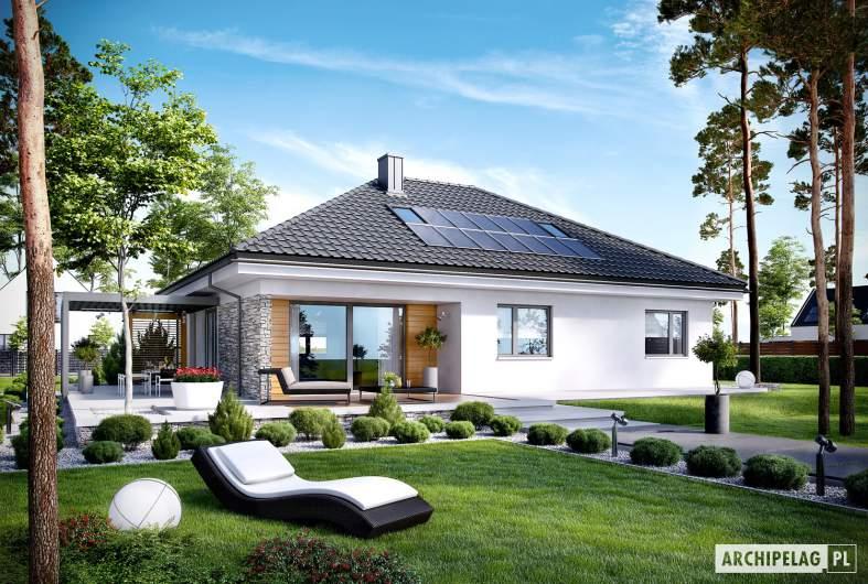 Projekt domu Astrid (mała) G2 - wizualizacja ogrodowa