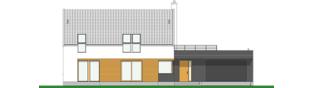 Projekt domu EX 18 G2 soft - elewacja frontowa