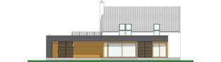 Projekt domu EX 18 G2 soft - elewacja tylna