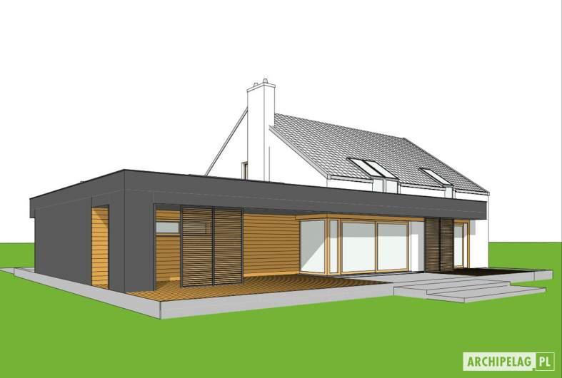 Projekt domu EX 18 G2 ENERGO PLUS - wizualizacja ogrodowa