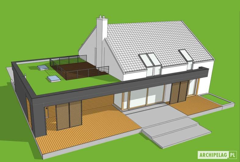 Projekt domu EX 18 G2 ENERGO PLUS - widopk z góry