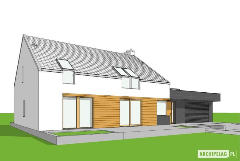 Projekt domu EX 18 G2 ENERGO PLUS - wizualizacja frontowa