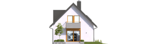 Projekt domu Andreas - elewacja tylna