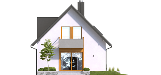Andreas - Projekt domu z poddaszem Andreas - elewacja tylna