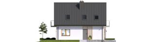 Projekt domu Andreas - elewacja lewa