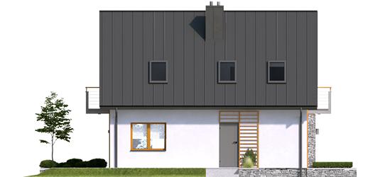 Andreas - Projekt domu z poddaszem Andreas - elewacja lewa