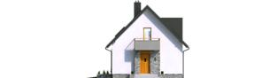 Projekt domu Andreas - elewacja frontowa