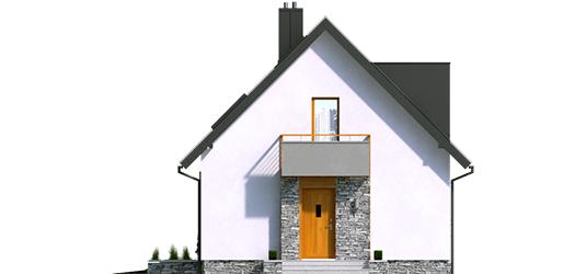 Andreas - Projekt domu z poddaszem Andreas - elewacja frontowa