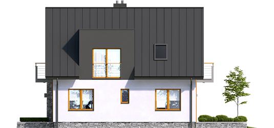 Andreas - Projekt domu z poddaszem Andreas - elewacja prawa
