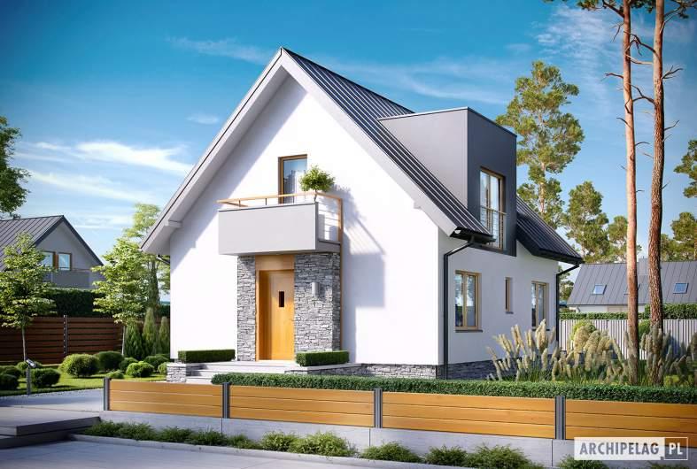 Projekt domu z poddaszem Andreas - wizualizacja frontowa