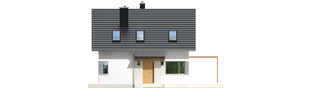 Projekt domu Lea (wersja A) - elewacja frontowa