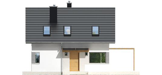 Lea A - Projekt domu Lea (wersja A) - elewacja frontowa