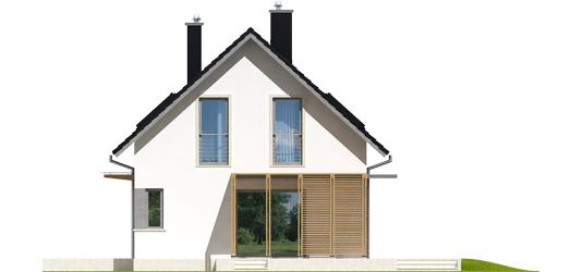 Lea A - Projekt domu Lea (wersja A) - elewacja prawa