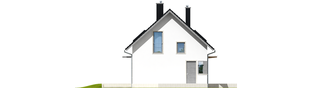 Projekt domu Lea (wersja A) - elewacja lewa