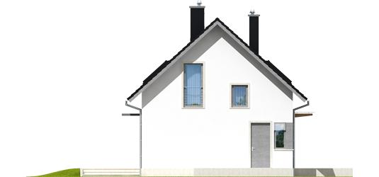 Lea A - Projekt domu Lea (wersja A) - elewacja lewa