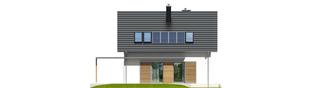 Projekt domu Lea (wersja A) - elewacja tylna