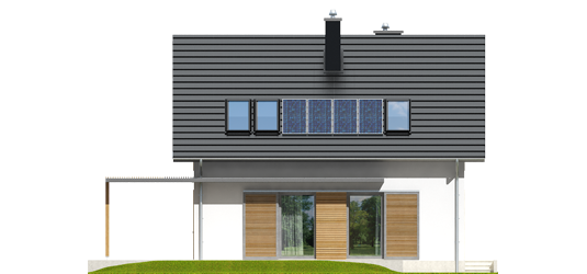 Lea A - Projekt domu Lea (wersja A) - elewacja tylna