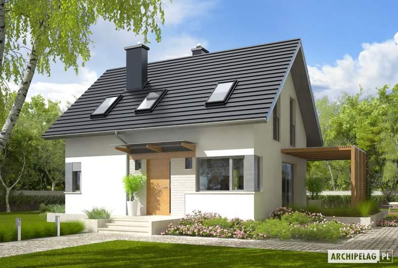 Projekt domu Lea (wersja A) - wizualizacja frontowa