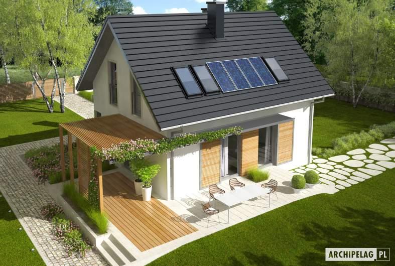 Projekt domu Lea (wersja A) - wizualizacja widok z góry
