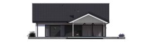 Projekt domu Simon III G2 ENERGO PLUS - elewacja tylna