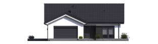 Projekt domu Simon III G2 ENERGO PLUS - elewacja frontowa