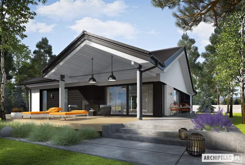 Projekt domu Simon III G2 ENERGO PLUS - wizualizacja ogrodowa