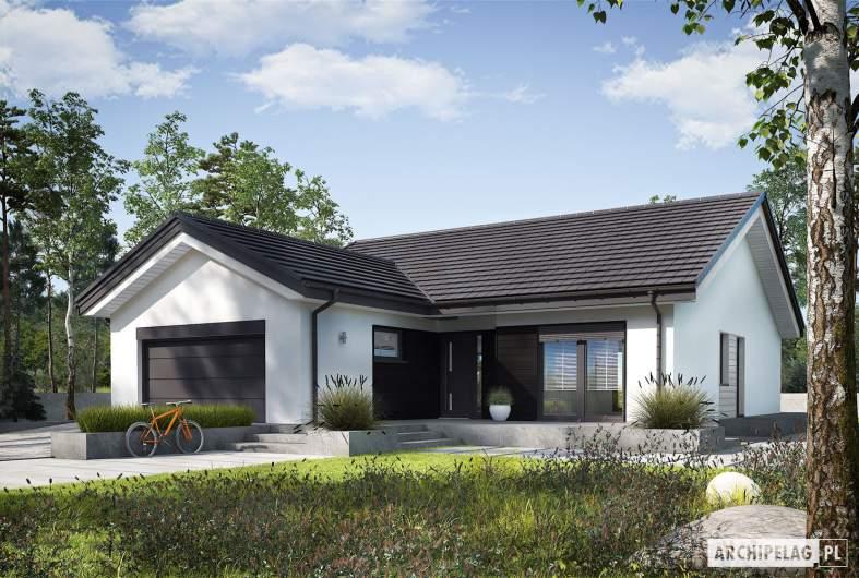 Projekt domu Simon III G2 ENERGO PLUS - wizualizacja frontowa