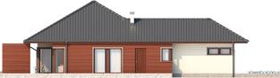 Projekt domu Dylan II G1 - elewacja lewa