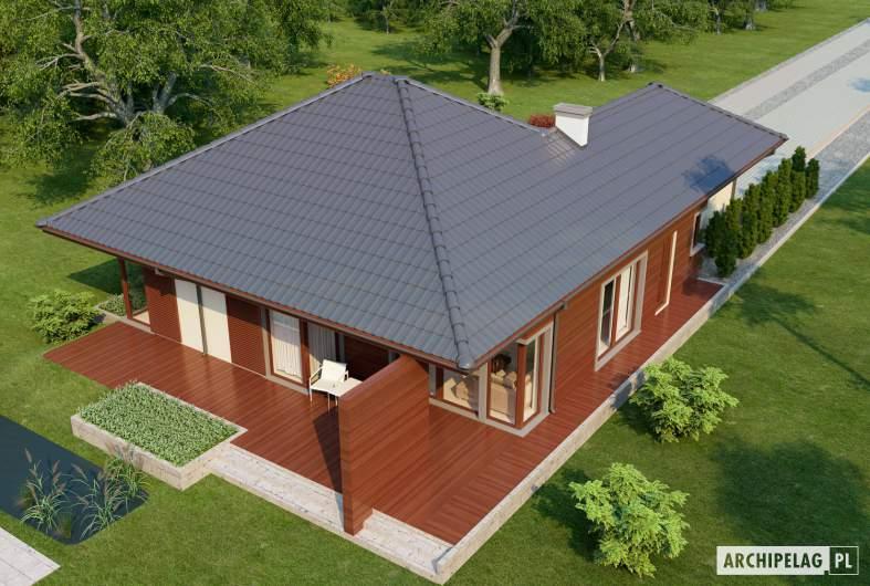 Projekt domu Dylan II G1 - widok z góry