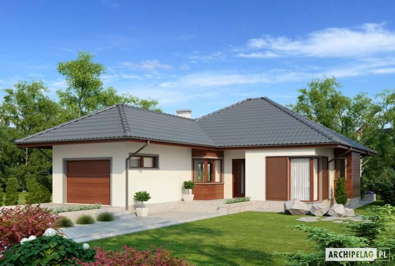 Projekt domu Dylan II G1 - wizualizacja frontowa
