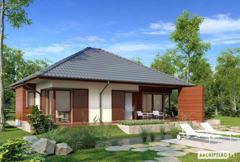 Projekt domu Dylan II G1 - wizualizacja ogrodowa