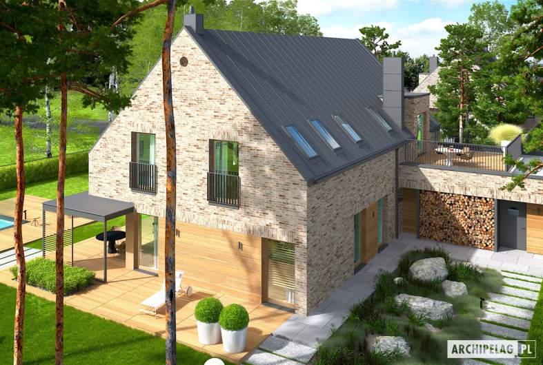 Projekt domu Teodor G2 (wersja B) - widok z góry