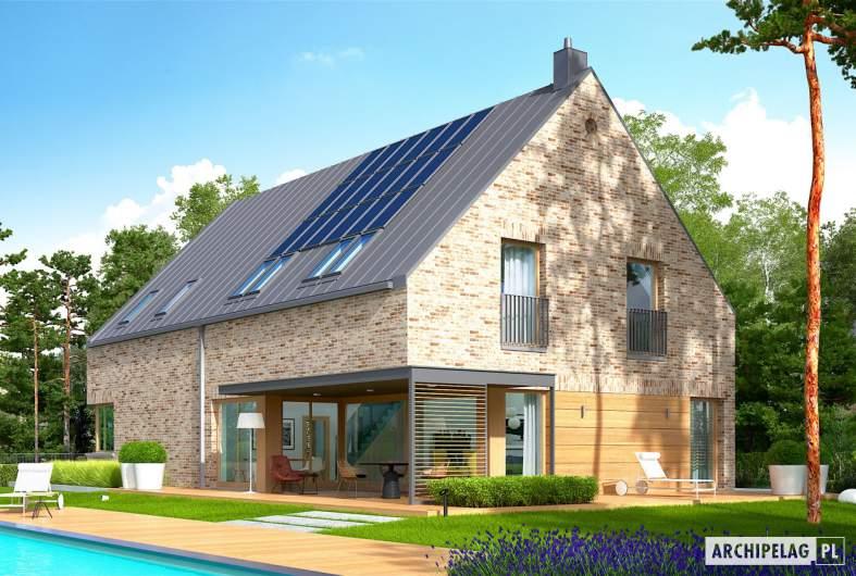 Projekt domu Teodor G2 (wersja B) - wizualizacja ogrodowa