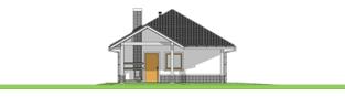 Projekt domu Garaż G25 w. IV - elewacja lewa