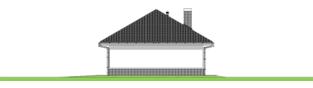Projekt domu Garaż G25 w. IV - elewacja prawa