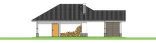 Projekt domu Garaż G25 w. IV - elewacja tylna