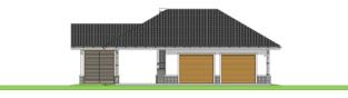 Projekt domu Garaż G25 w. IV - elewacja frontowa