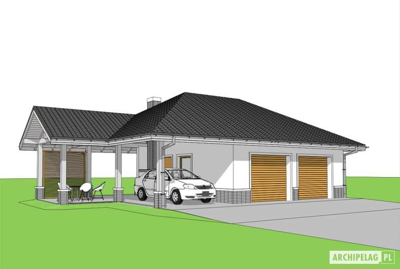 Projekt domu Garaż G25 w. IV -