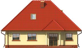 Edma - Projekt domu Edytka - elewacja tylna