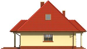 Edma - Projekt domu Edytka - elewacja lewa