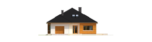 Projekt domu Liv 3 G1 - elewacja frontowa