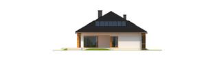 Projekt domu Liv 3 G1 - elewacja tylna