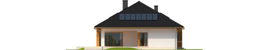 Liv 3 G1 - Projekt domu Liv 3 G1 - elewacja tylna