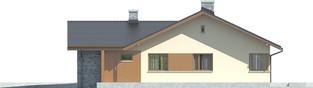 Projekt domu Alberta G1 - elewacja prawa