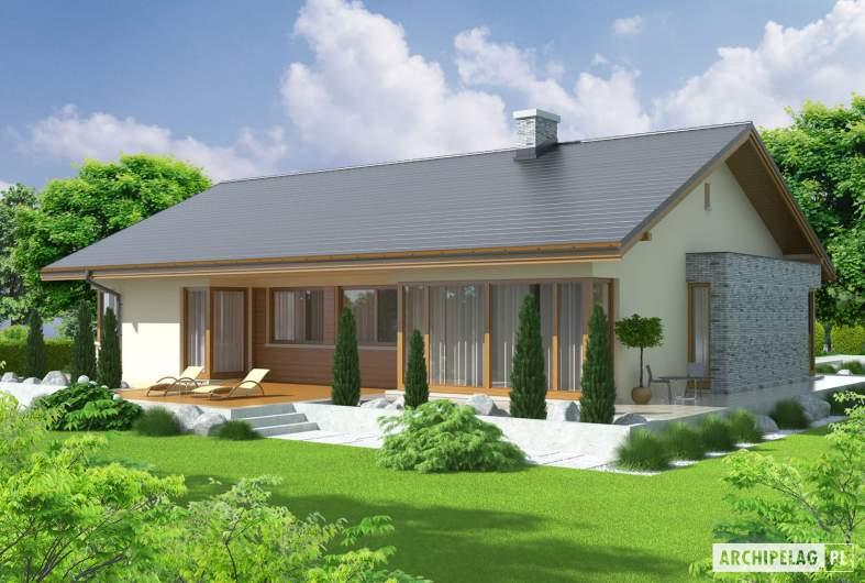 Projekt domu Alberta G1 - wizualizacja ogrodowa