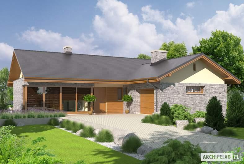 Projekt domu Alberta G1 - wizualizacja frontowa