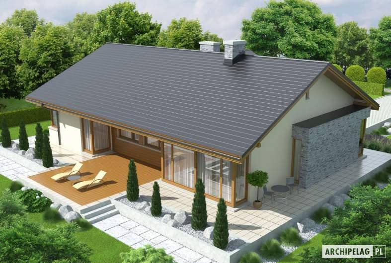 Projekt domu Alberta G1 - widok z góry