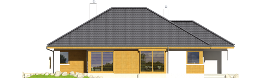 Glenas IV G1 A++ - Projekt domu Glen IV G1 - elewacja lewa