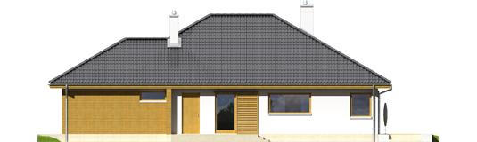 Glenas IV G1 A++ - Projekt domu Glen IV G1 - elewacja prawa